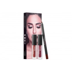 Huda Beauty Lip Contour Set Vixen - Famous