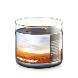 Bath & Body Works Sweater Weather 3 Wick Scented Candle
