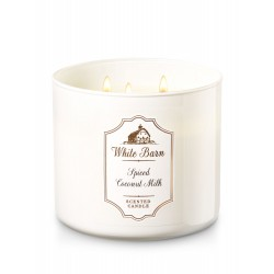 Bath & Body Works White Barn Spiced Coconut Milk 3 Wick Scented Candle