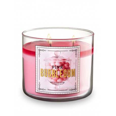 Bath & Body Works Pink Bubblegum 3 Wick Scented Candle