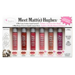 The Balm Meet Matte Hughes Set of 6 Mini Long-Lasting Liquid Lipsticks
