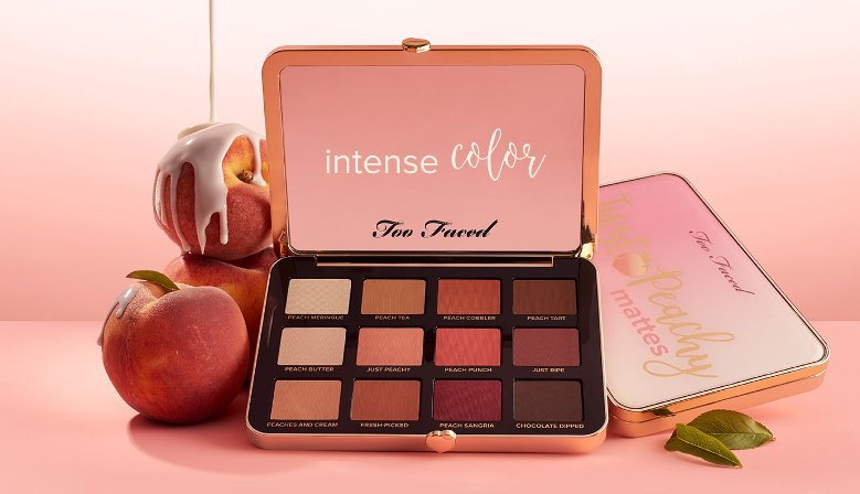 Too Faced Peaches And Cream Collection Just Peachy Velvet Matte Eye Shadow Palette