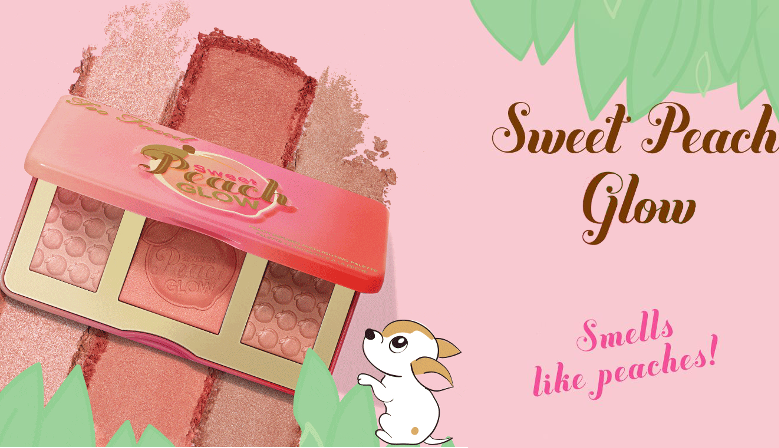 Too Faced Sweet Peach Glow Peach-Infused Highlighting Palette Edition Limitée