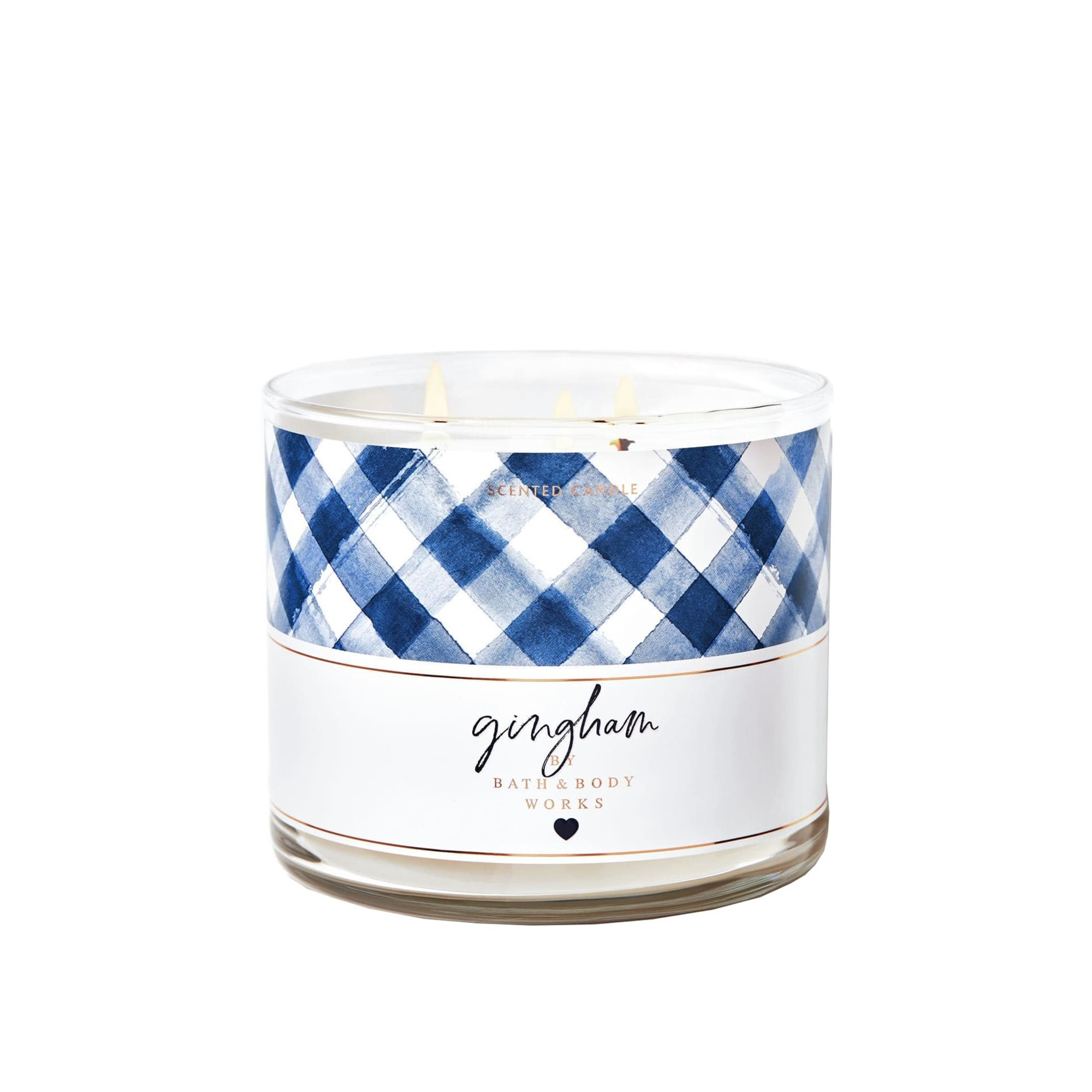 Bath & Body Works Gingham 3 Wick Scented Candle