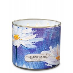 Bath & Body Works Lavender Woods 3 Wick Scented Candle