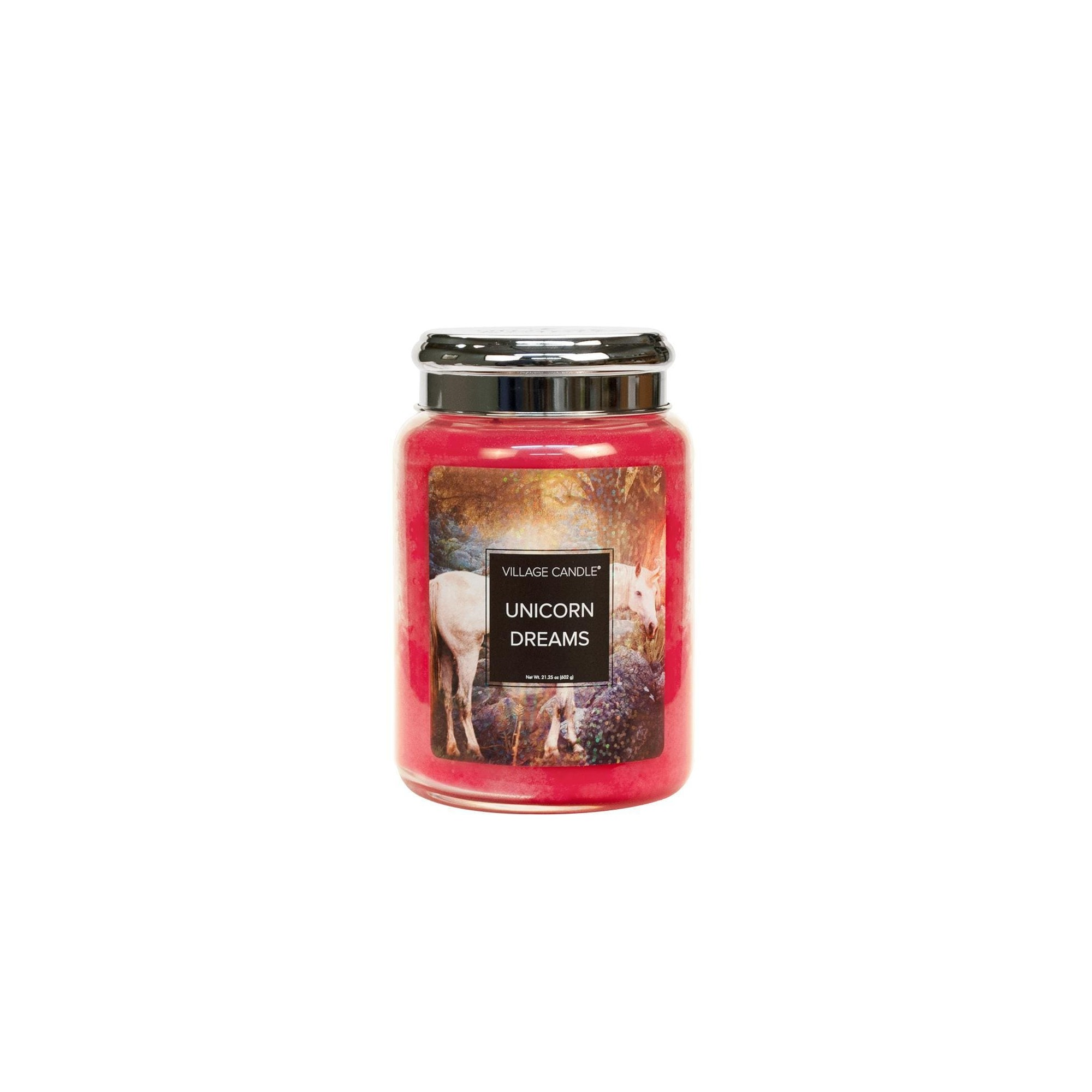 Village Candle Unicorn Dreams Large Glass Jar - Fantasy Collection