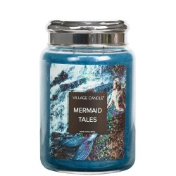 Village Candle Mermaid Tales Large Glass Jar - Fantasy Collection