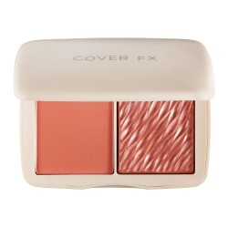 Cover FX Monochromatic Matte + Shimmer Blush Duo Soft Peach