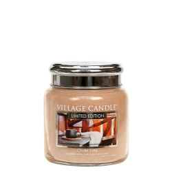 Village Candle Chalet Latte Medium Glass Jar
