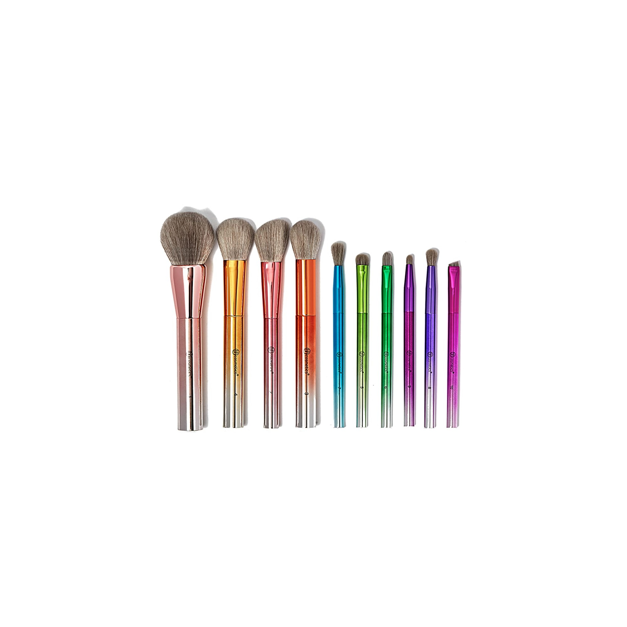 b624809e6a6 BH Cosmetics Take Me Back to Brazil Brushes 10 Piece Brush Set Pinceaux