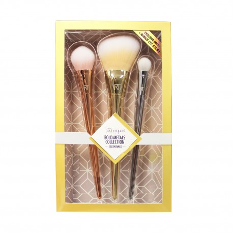 Real Techniques Bold Metals Collection Essentials Brush Set