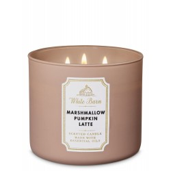 Bath & Body Works White Barn Marshmallow Pumpkin Latte 3 Wick Scented Candle