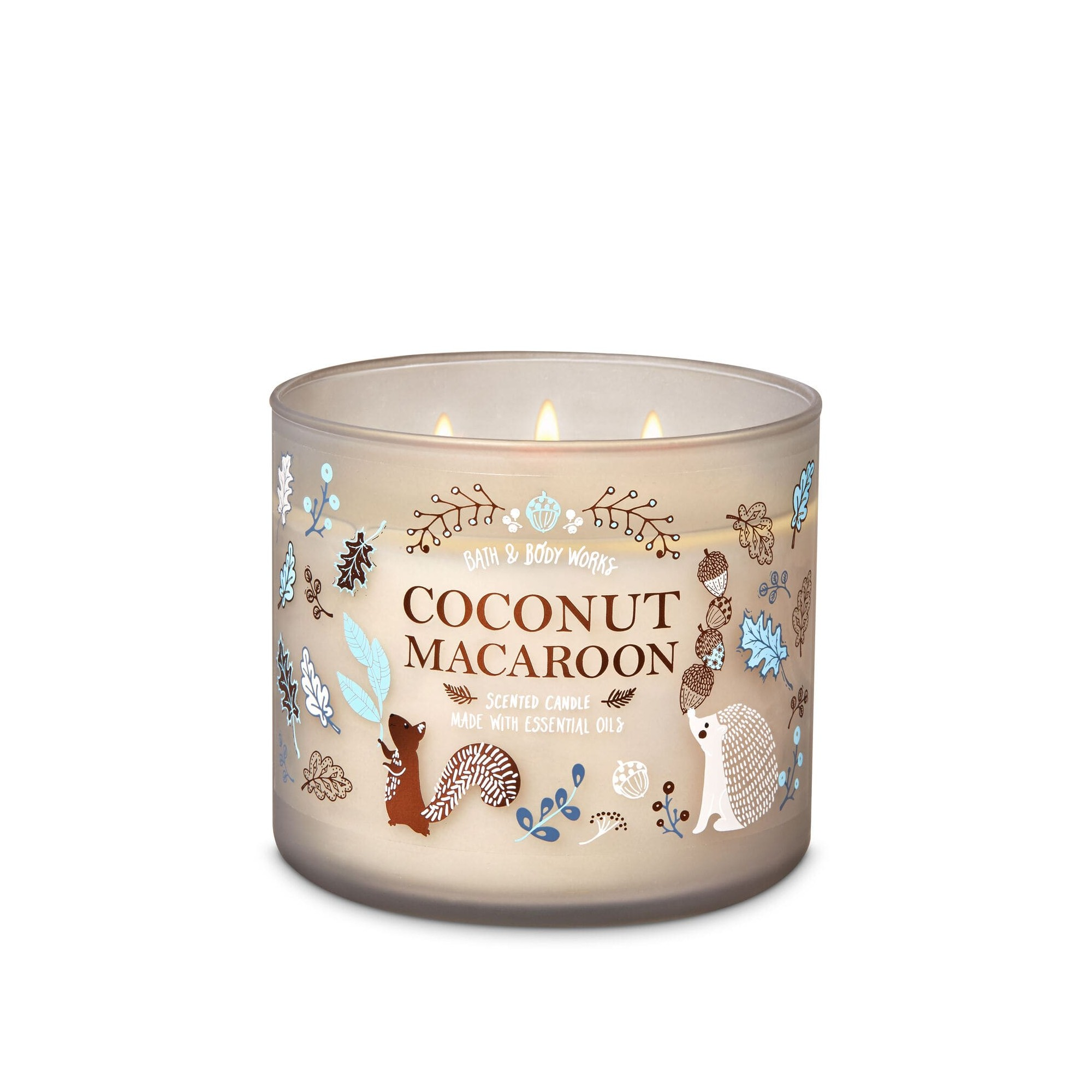 Bath & Body Works Spiced Coconut Macaroon 3 Wick Scented Candle
