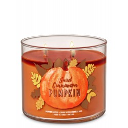 Bath & Body Works Sweet Cinnamon Pumpkin 3 Wick Scented Candle