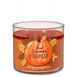 Bath & Body Works Sweet Cinnamon Pumpkin 3 Wick Scented Candle