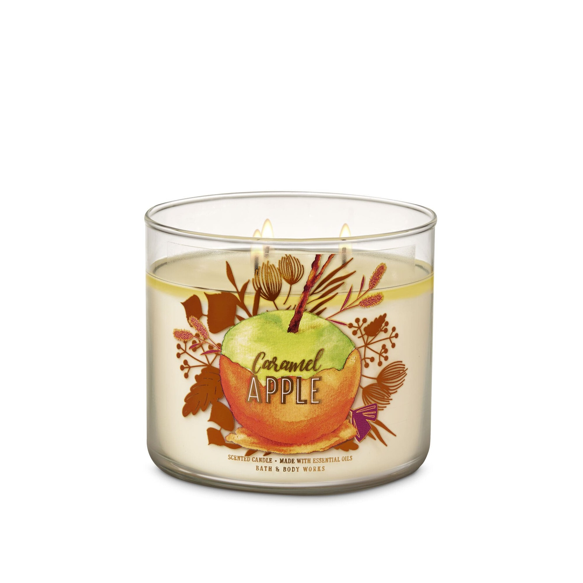 Bath & Body Works Caramel Apple 3 Wick Scented Candle