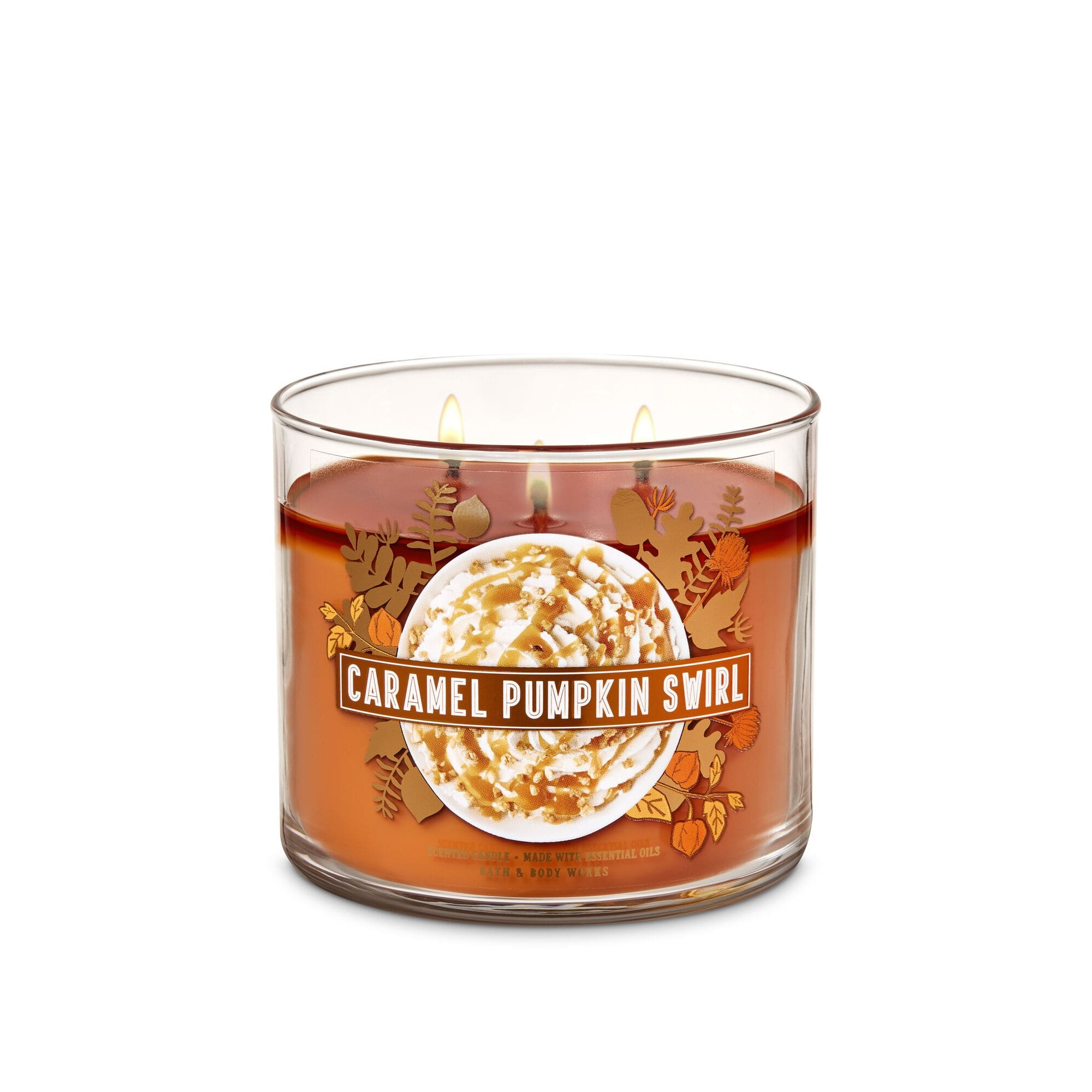 Bath & Body Works Caramel Pumpkin Swirl 3 Wick Scented Candle