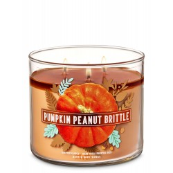 Bath & Body Works Pumpkin Peanut Brittle 3 Wick Scented Candle