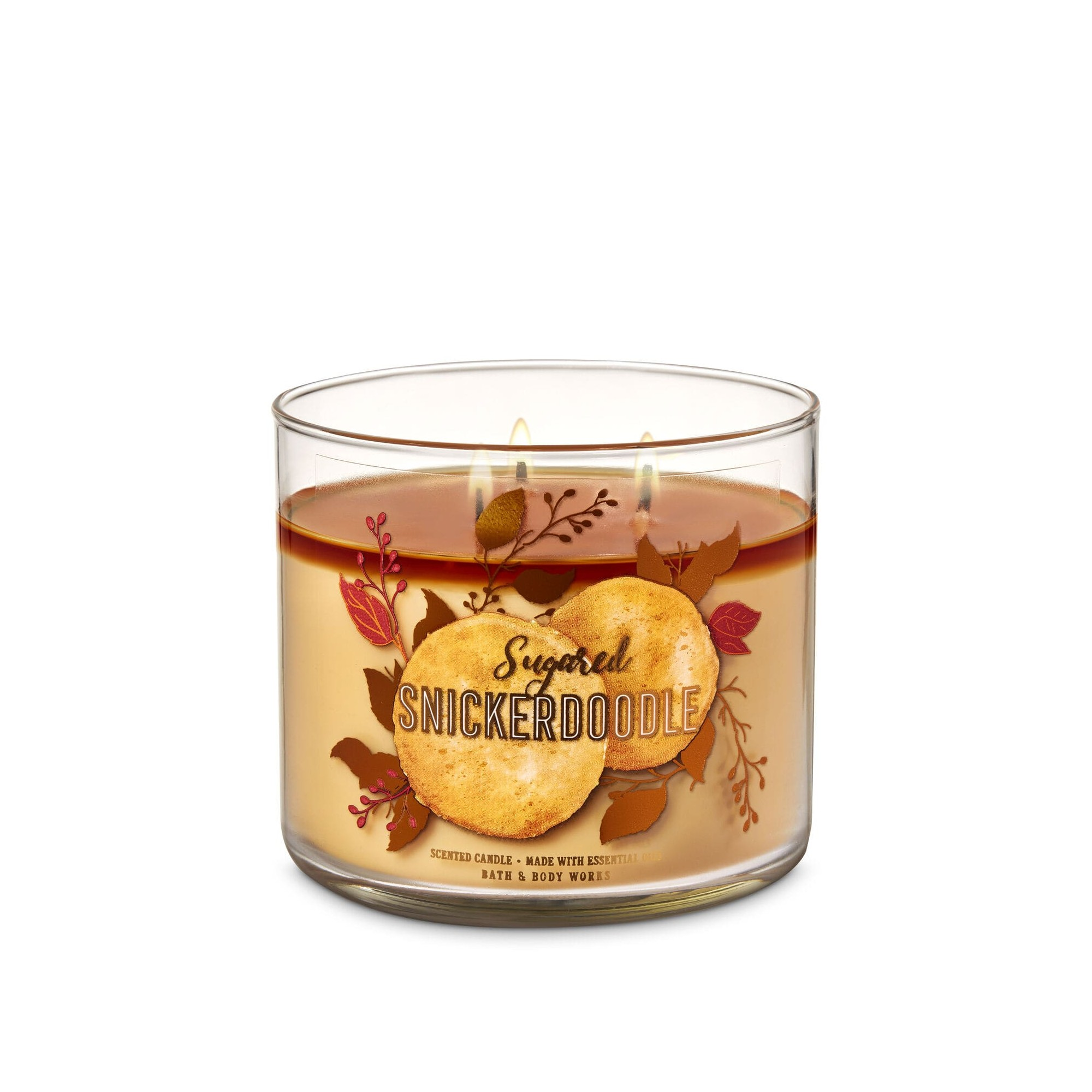Bath & Body Works Sugared Snickerdoodle 3 Wick Scented Candle