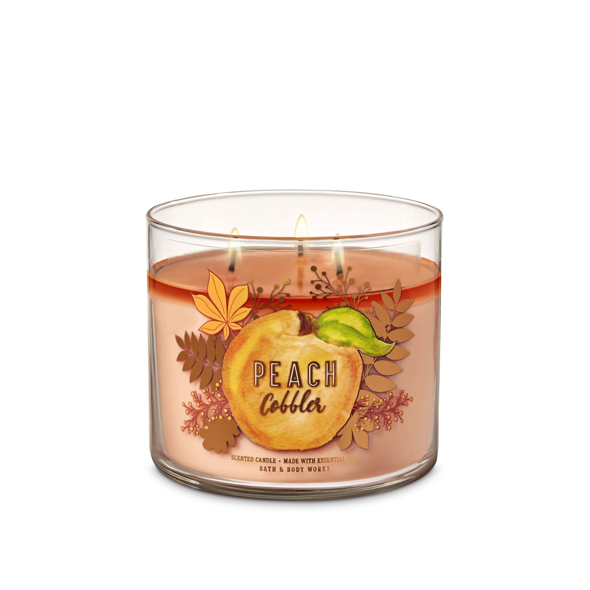 Bath & Body Works Peach Cobbler 3 Wick Scented Candle