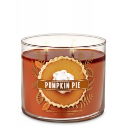 Bath & Body Works Pumpkin Pie 3 Wick Scented Candle