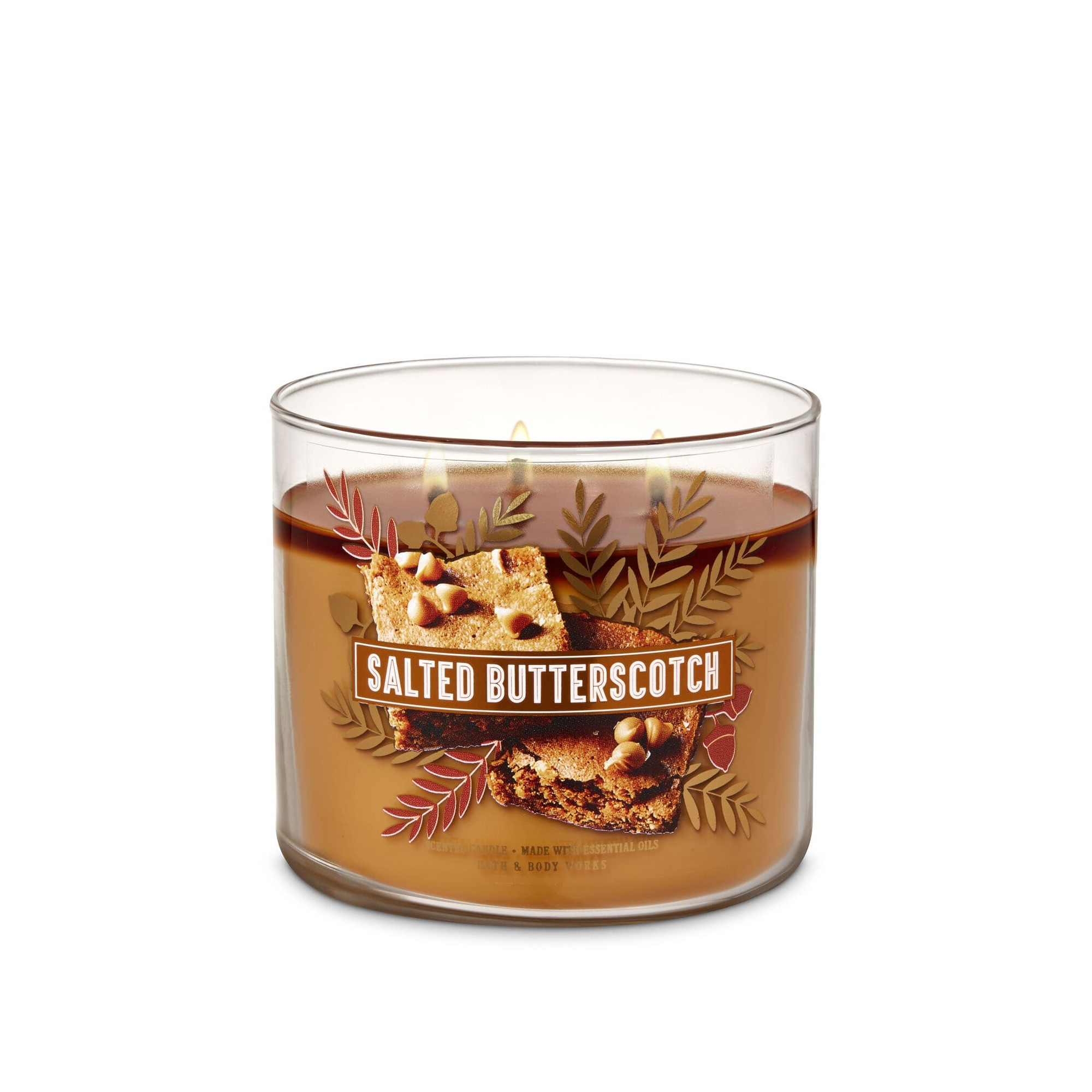 Bath & Body Works Salted Butterscotch 3 Wick Scented Candle