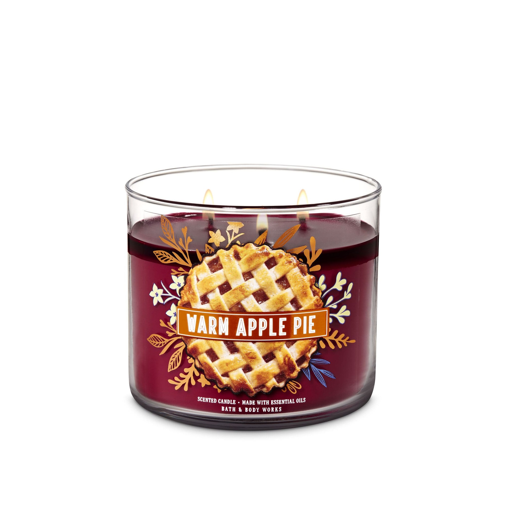 Bath & Body Works Warm Apple Pie 3 Wick Scented Candle