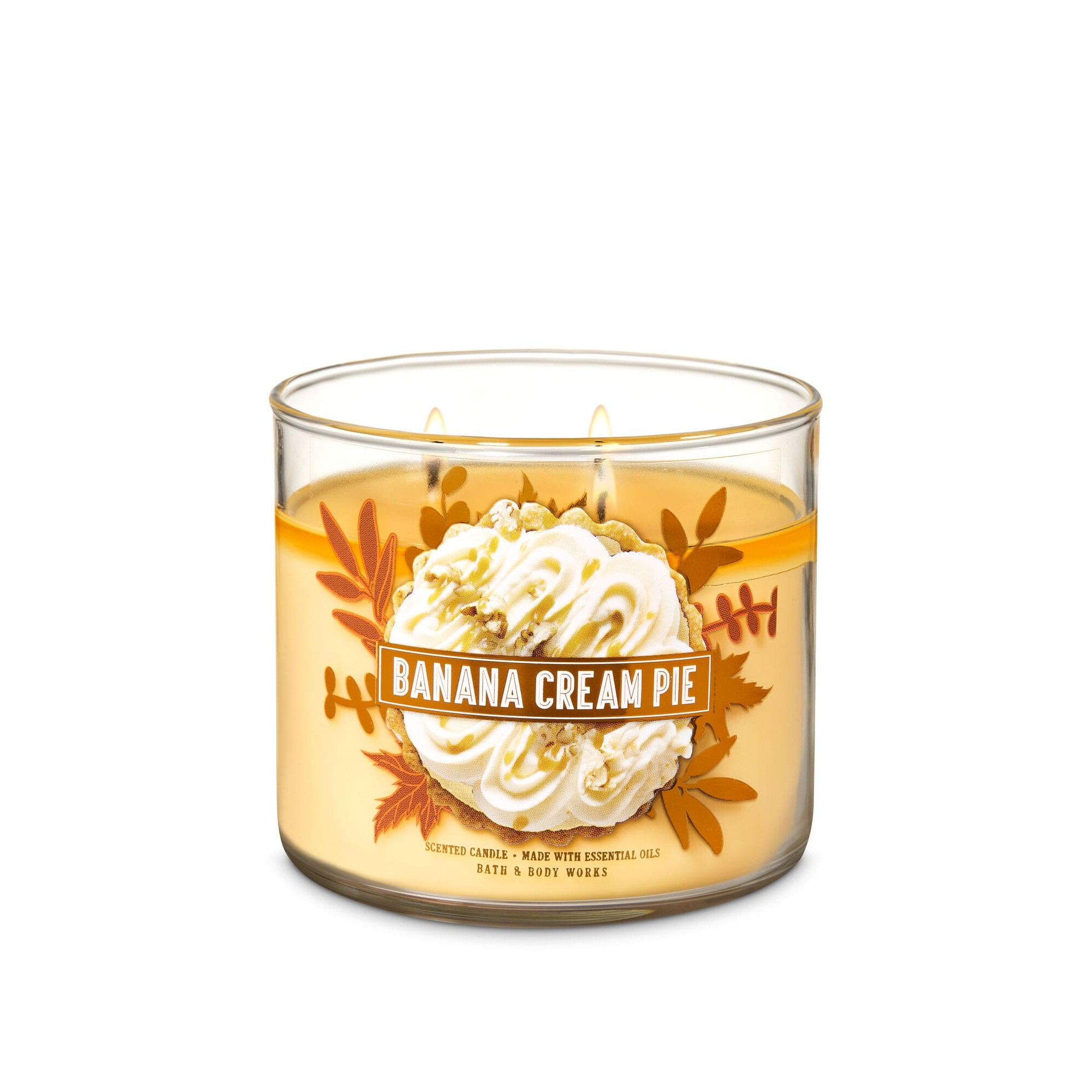 Bath & Body Works Banana Cream Pie 3 Wick Scented Candle