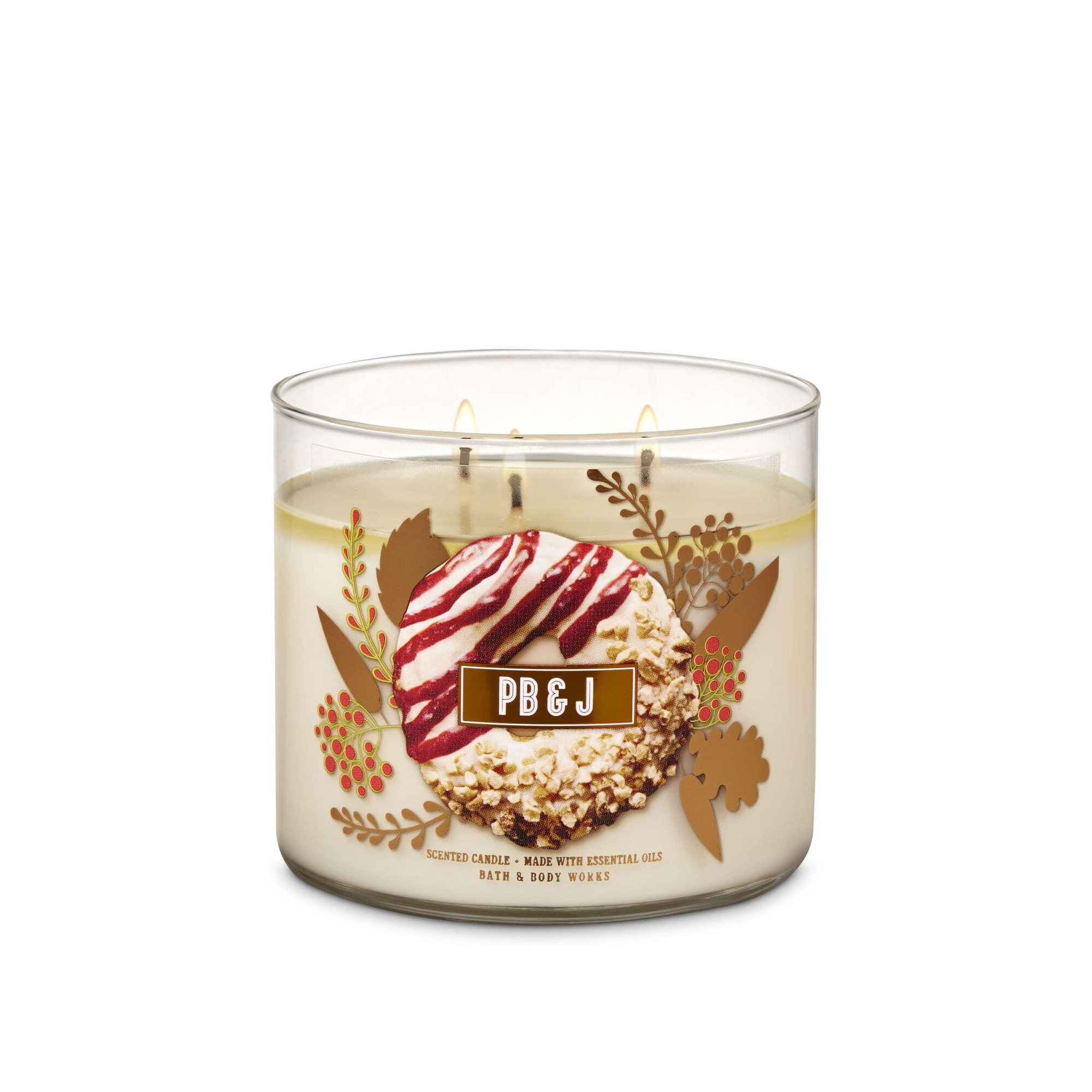 Bath & Body Works PB & J 3 Wick Scented Candle