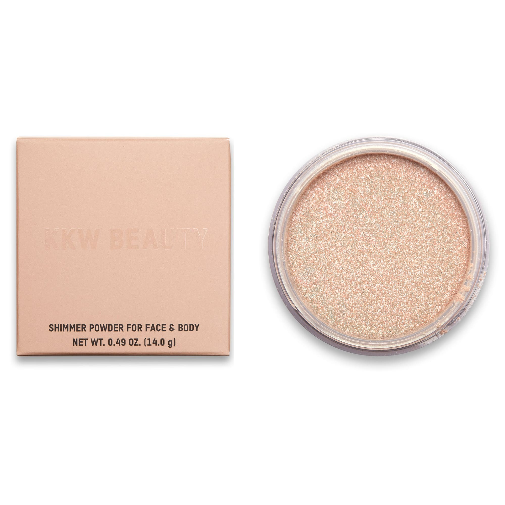 KKW Beauty Loose Shimmer Powder for Face & Body Pearl