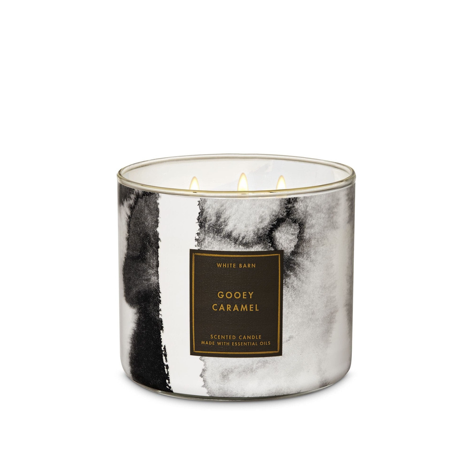 Bath & Body Works White Barn Gooey Caramel 3 Wick Scented Candle