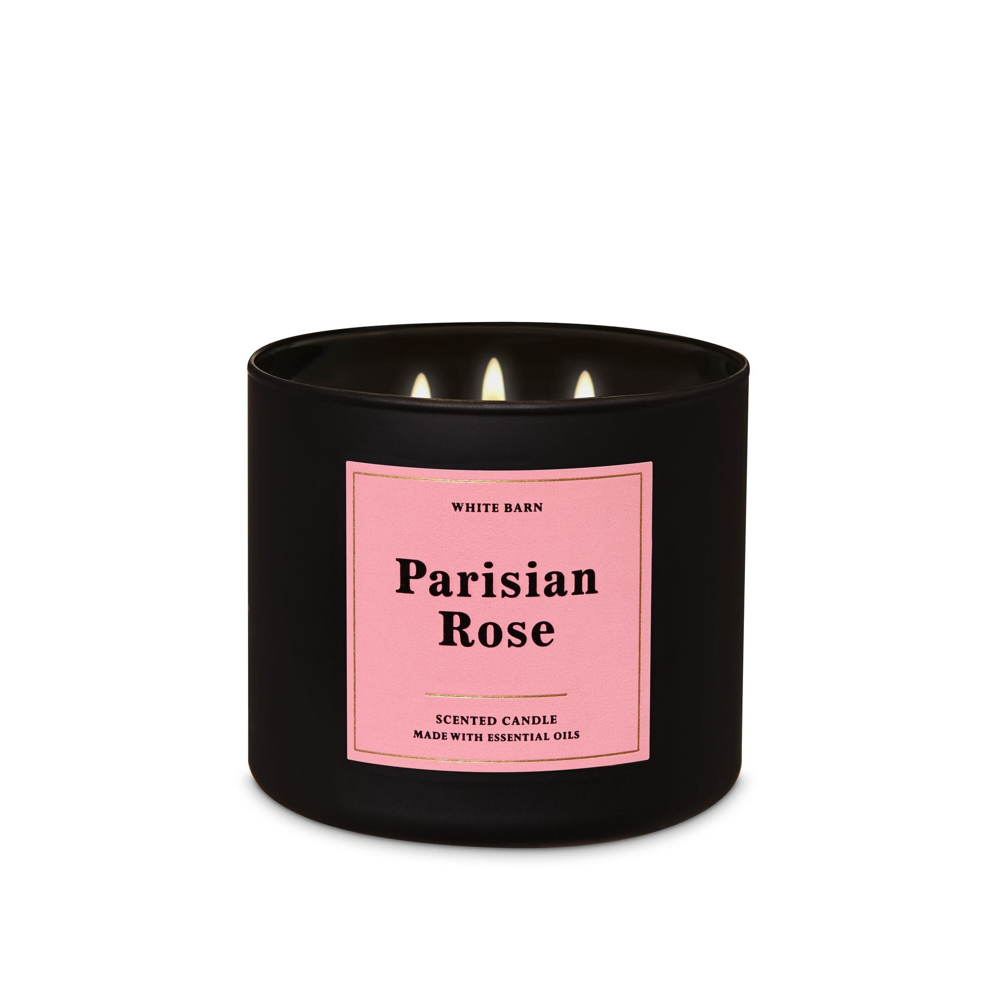 Bath & Body Works White Barn Parisian Rose 3 Wick Scented Candle