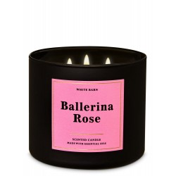 Bath & Body Works White Barn Ballerina Rose 3 Wick Scented Candle