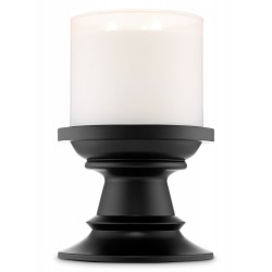Bath & Body Works Black Pedestal 3 Wick Candle Holder