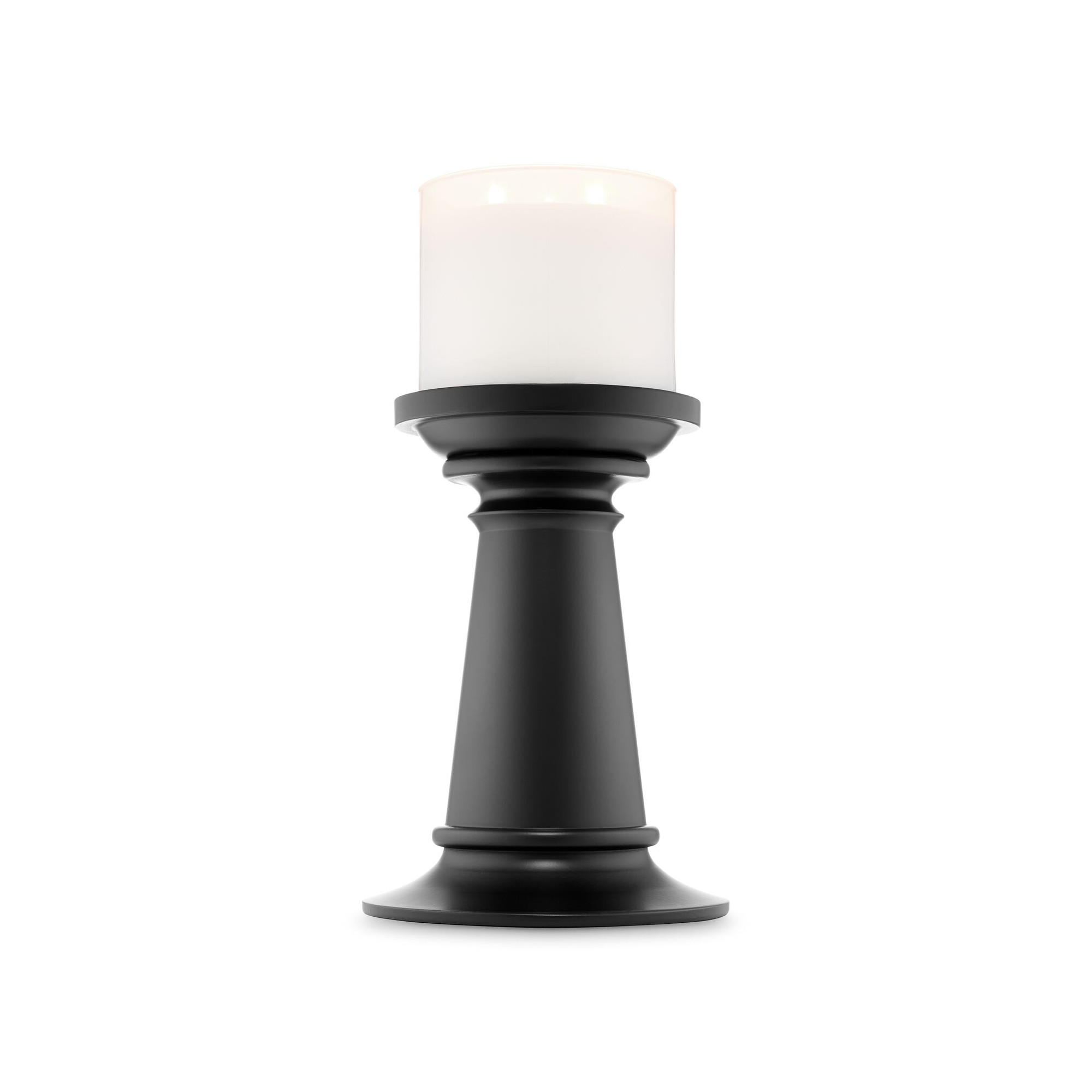 Bath & Body Works Tall Black Pedestal 3 Wick Candle Holder