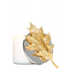 Bath & Body Works Glittery Gold Leaf 3-Wick Candle Magnet