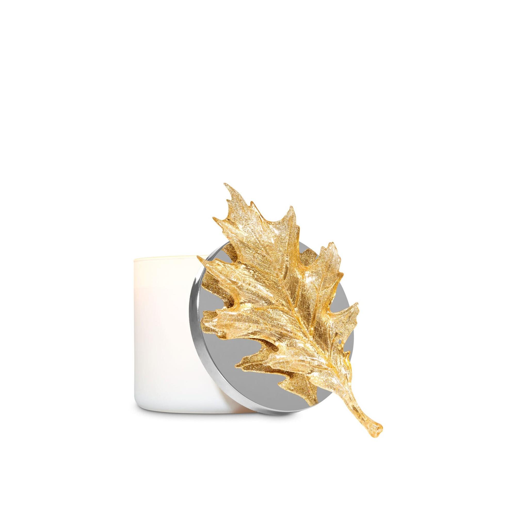 Bath & Body Works Glittery Gold Leaf 3-Wick Candle Magnet