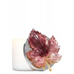 Bath & Body Works Glittery Burgundy Leaf 3-Wick Candle Magnet