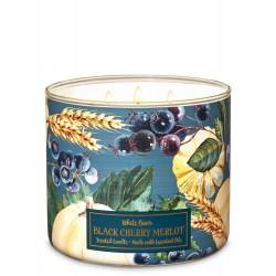 Bath & Body Works White Barn Black Cherry Merlot 3 Wick Scented Candle