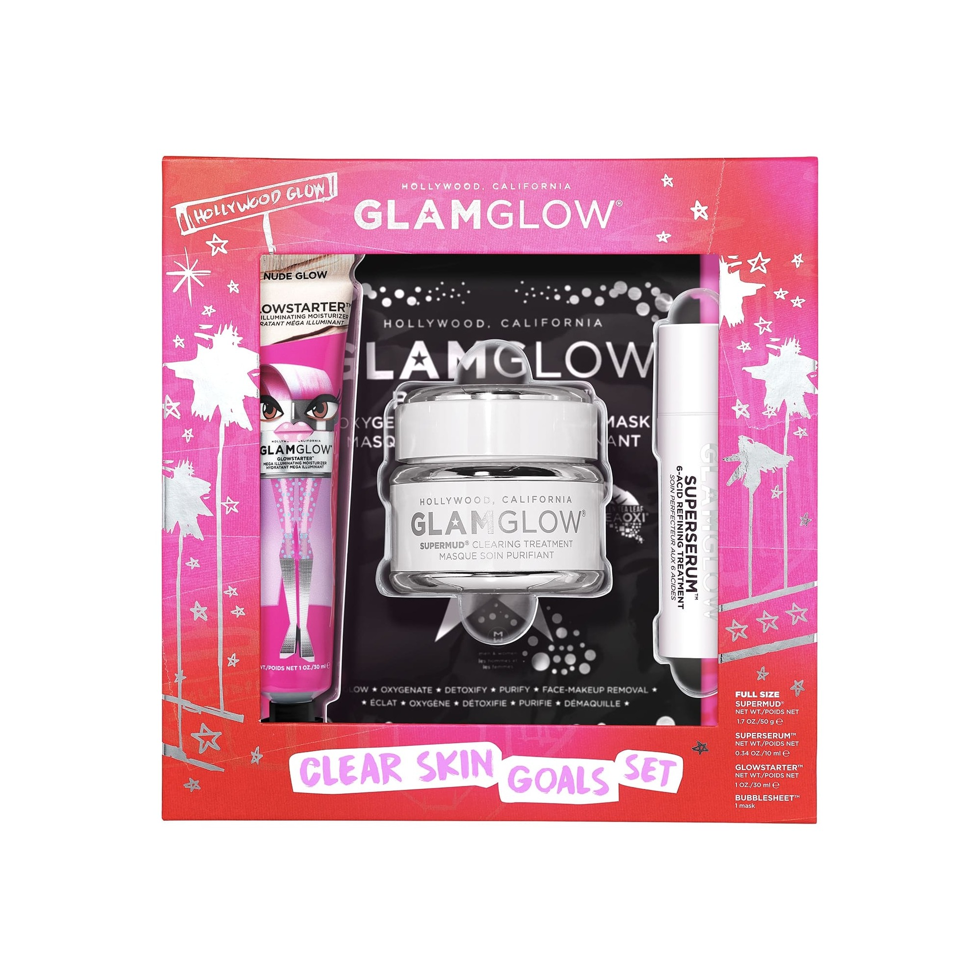 Glamglow Supermud Super Clear Pore Clarifying Skin Set