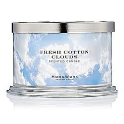Homeworx by Harry Slatkin Fresh Cotton Clouds 4 Wick Candle