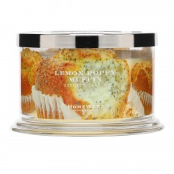 Homeworx by Harry Slatkin Lemon Poppy Muffin 4 Wick Candle