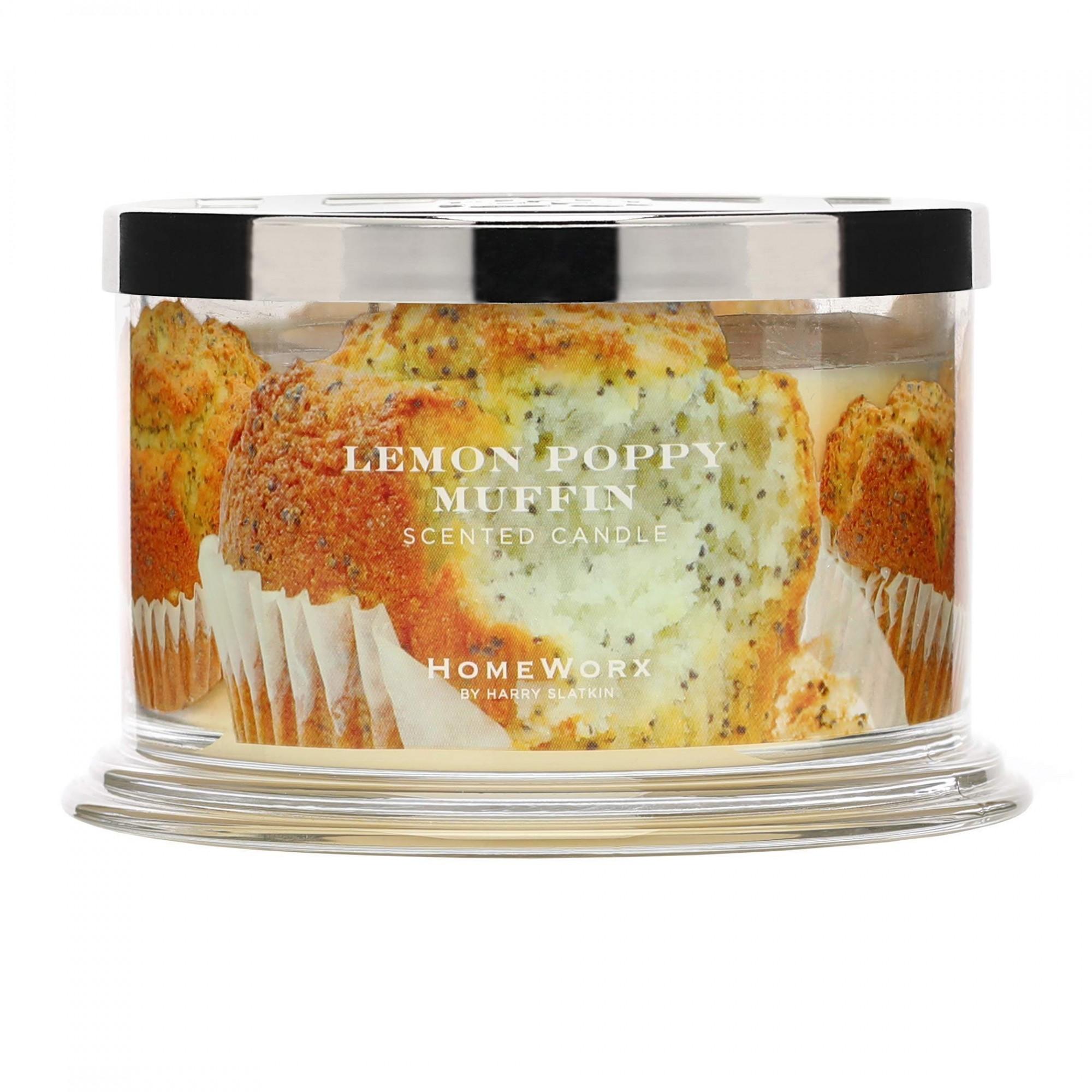 Homeworx by Harry Slatkin Lemon Poppy Muffin 4 Wick Candle