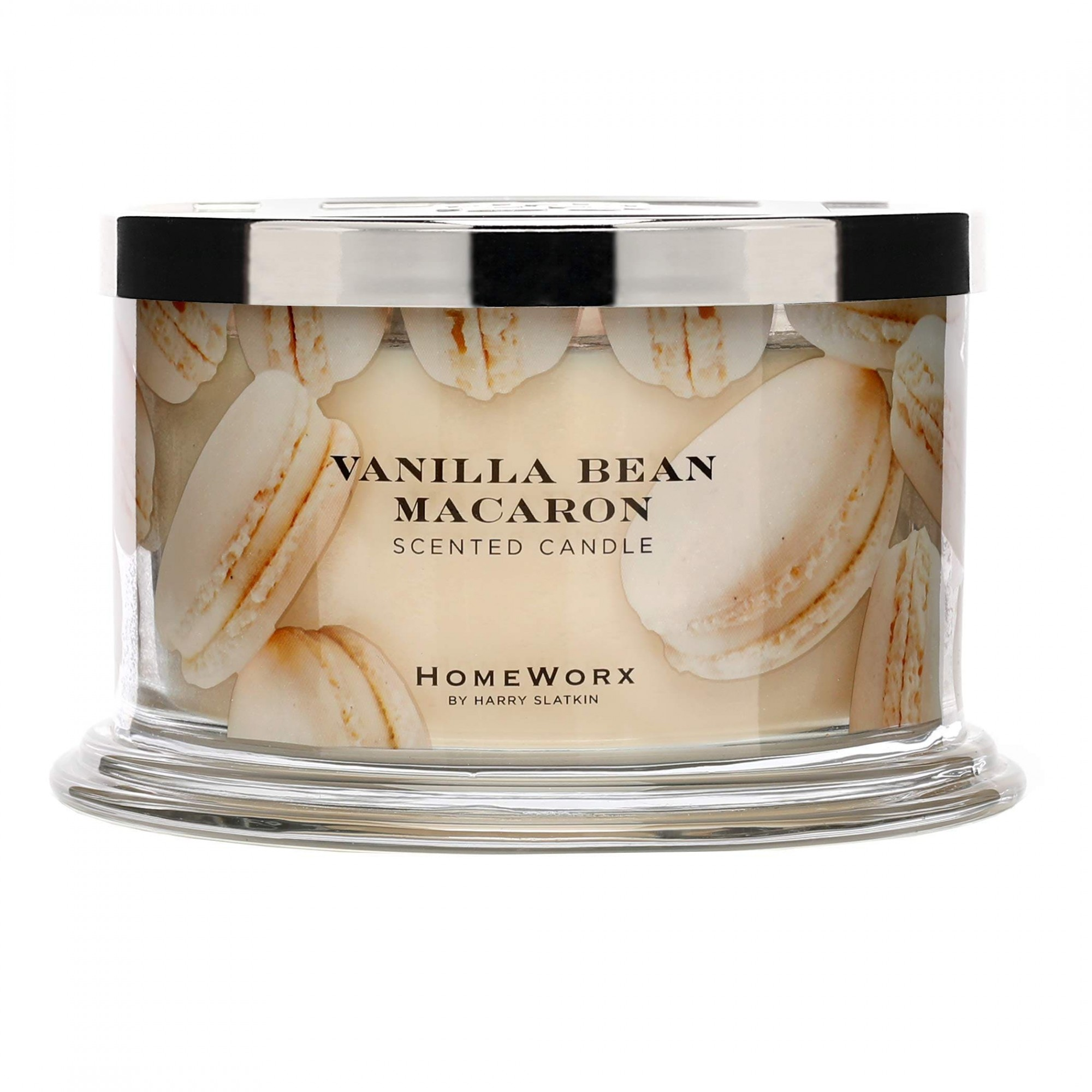 Homeworx by Harry Slatkin Vanilla Bean Macaron 4 Wick Candle