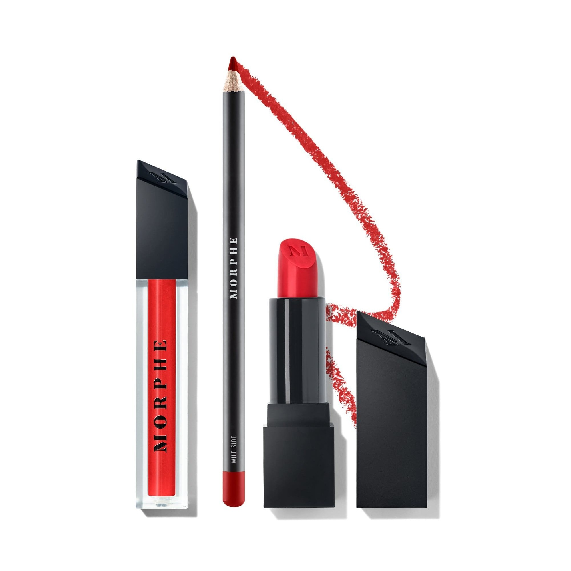 Morphe Out & A Pout Fiery Red Lip Trio