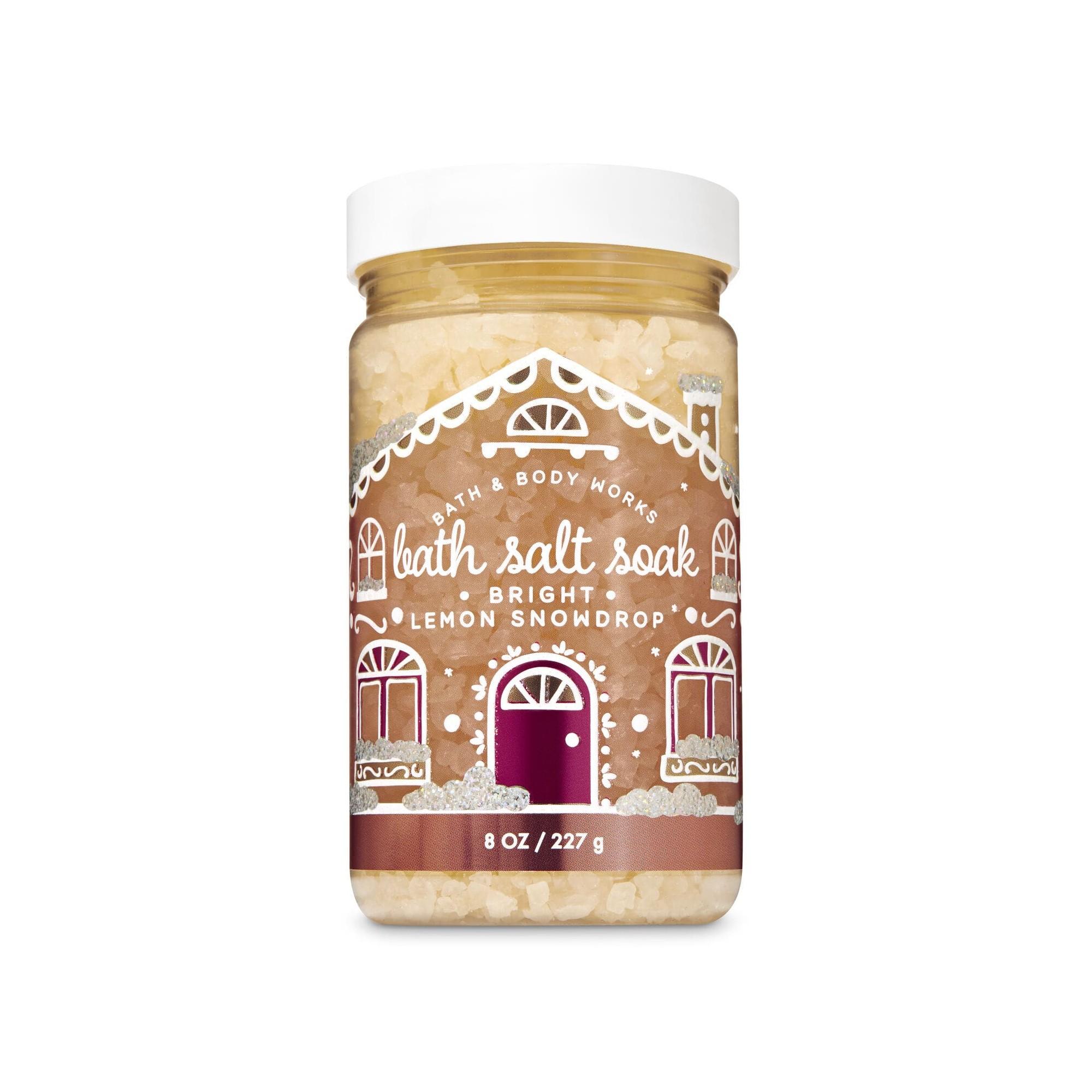 Bath & Body Works Bright Lemon Snowdrop Bath Salt Soak
