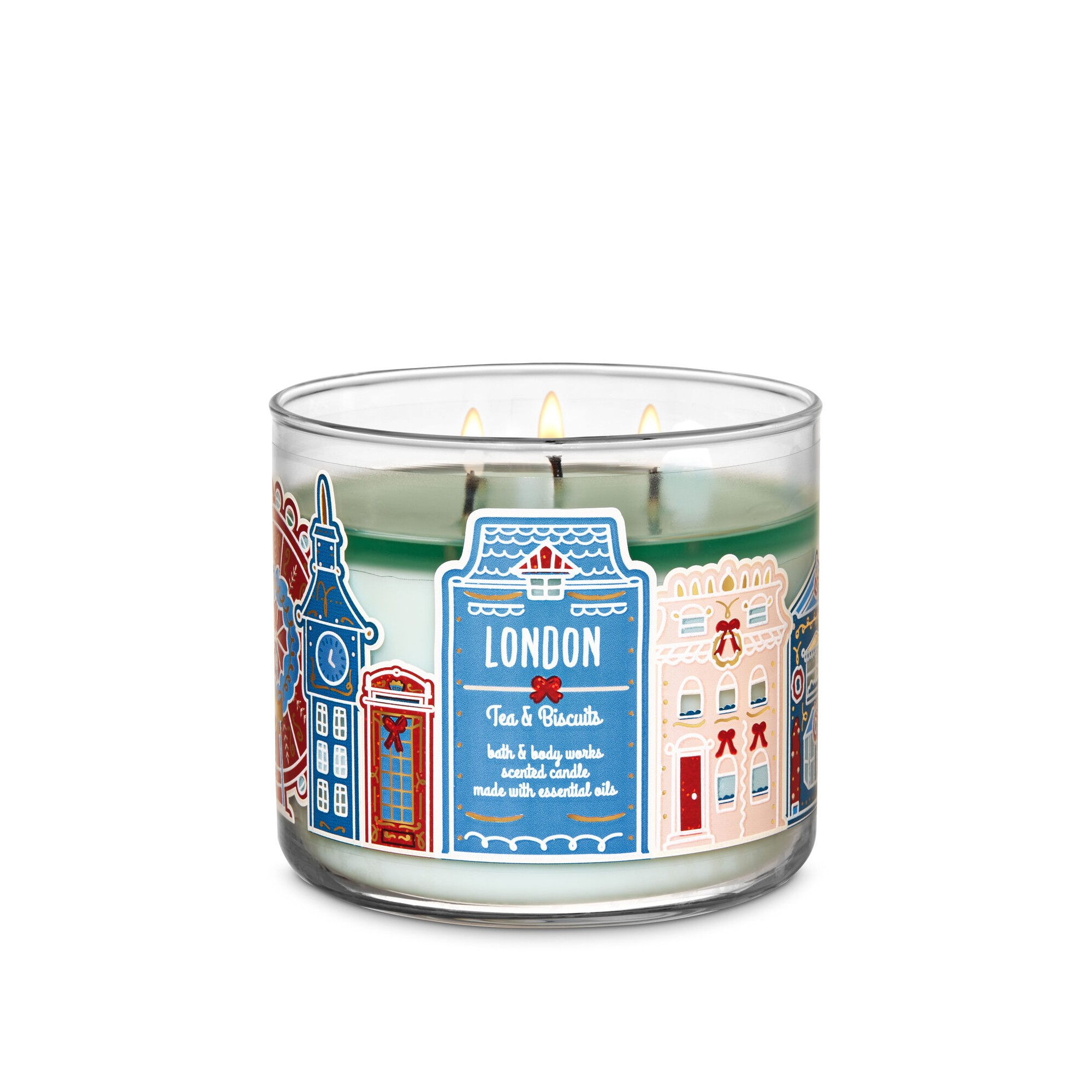 Bath & Body Works Tea & Biscuits 3 Wick Scented Candle