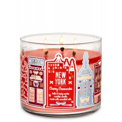 Bath & Body Works New York Cherry Cheesecake 3 Wick Scented Candle