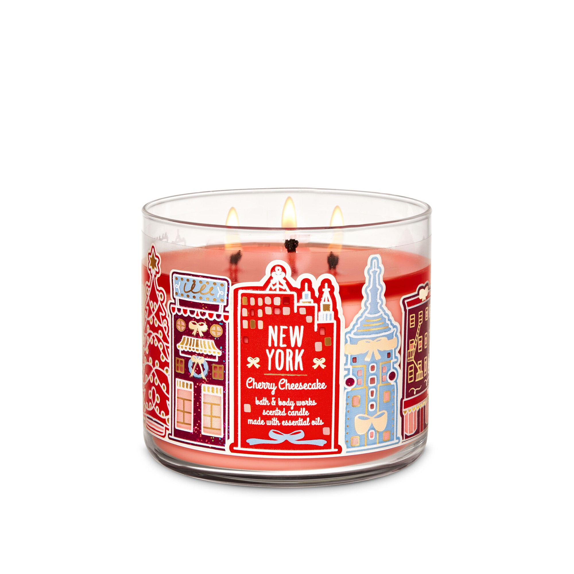 Bath & Body Works Cherry Cheesecake 3 Wick Scented Candle