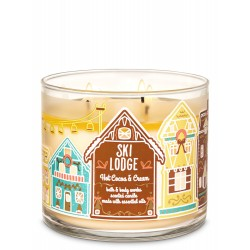 Bath & Body Works Ski Lodge Hot Cocoa & Cream 3 Wick Scented Candle